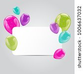 set of colorful glossy hellium... | Shutterstock .eps vector #1006637032