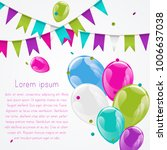 colorful helium balloons bunch... | Shutterstock .eps vector #1006637038