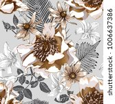 floral seamless pattern with... | Shutterstock .eps vector #1006637386