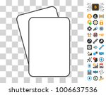 blank playing cards icon with...
