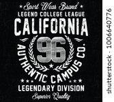 california sport wear brand ...   Shutterstock .eps vector #1006640776