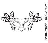 mardi gras mask icon | Shutterstock .eps vector #1006644025