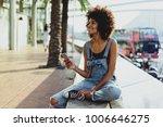 a young model looking dark... | Shutterstock . vector #1006646275