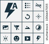 photo icons set with brightness ... | Shutterstock . vector #1006647055