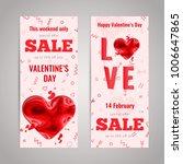 valentines day sale flyer set.... | Shutterstock .eps vector #1006647865