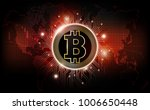 bitcoin digital currency and... | Shutterstock .eps vector #1006650448