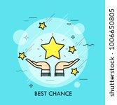 hands holding golden star....   Shutterstock .eps vector #1006650805