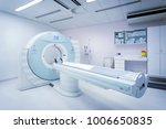 CT - Computerized Tomography Scan Device in Hospital. Medical Equipment and Health Care.