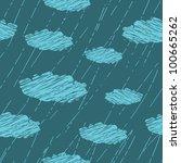seamless pattern of rain | Shutterstock .eps vector #100665262