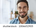 close up shot of cheerful... | Shutterstock . vector #1006652905