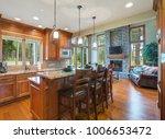 gourmet kitchen boasts a bar... | Shutterstock . vector #1006653472