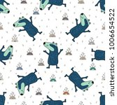 cute doodle tribal seamless... | Shutterstock .eps vector #1006654522