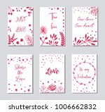decorative greeting cards for... | Shutterstock .eps vector #1006662832