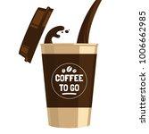 coffee to go cup cartoon flat... | Shutterstock .eps vector #1006662985