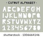 cutout abc   latin alphabet....   Shutterstock .eps vector #1006664146