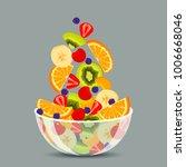 Fresh Fruit Salad In A...