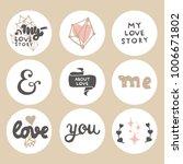 loft set of love graphic... | Shutterstock .eps vector #1006671802
