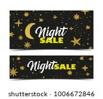vector illustration night sale... | Shutterstock .eps vector #1006672846