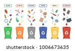 garbage cans isolated on white... | Shutterstock .eps vector #1006673635