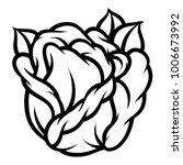 flower rose  black and white.... | Shutterstock .eps vector #1006673992