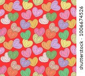 hearts seamless pattern. design ... | Shutterstock .eps vector #1006674526