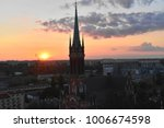 view of the church at sunset | Shutterstock . vector #1006674598