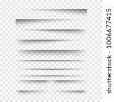 vector realistic transparent... | Shutterstock .eps vector #1006677415