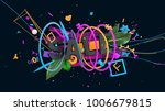bright and colorful abstraction ... | Shutterstock . vector #1006679815