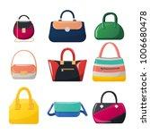 set of isolated women handbag.... | Shutterstock .eps vector #1006680478