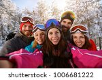 group of cheerful friends... | Shutterstock . vector #1006681222