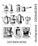 poster with coffee brewing... | Shutterstock .eps vector #1006682845