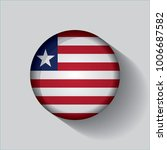 button flag of liberia in a... | Shutterstock .eps vector #1006687582