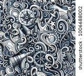 cartoon cute doodles hand drawn ... | Shutterstock .eps vector #1006688002