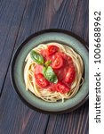 pasta with tomato sauce and...   Shutterstock . vector #1006688962