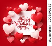 valentines day abstract... | Shutterstock .eps vector #1006690192