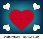 paper cut realistic valentine's ... | Shutterstock .eps vector #1006691605