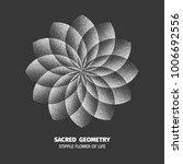 abstract dot symbol sacred... | Shutterstock .eps vector #1006692556