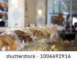 sweet and tasty desserts lying... | Shutterstock . vector #1006692916