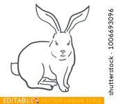 rabbit zodiac sign. bunny...   Shutterstock .eps vector #1006693096
