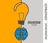 creative brainstorm concept... | Shutterstock .eps vector #1006698655