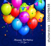 bunch of colorful birthday... | Shutterstock .eps vector #1006698658