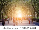 crowd of anonymous people... | Shutterstock . vector #1006699498