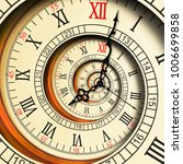 antique old clock abstract... | Shutterstock . vector #1006699858