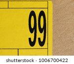 number 99  ninetynine  printed... | Shutterstock . vector #1006700422