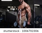 sexy strong bodybuilder... | Shutterstock . vector #1006702306