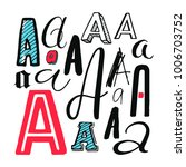letters a set. different styles.... | Shutterstock .eps vector #1006703752