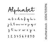 hand drawn vector alphabet ...   Shutterstock .eps vector #1006705096
