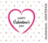 happy valentine's day   poster... | Shutterstock .eps vector #1006705426