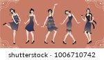 charleston party. gatsby style... | Shutterstock .eps vector #1006710742