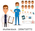 young professional doctor  pack ... | Shutterstock .eps vector #1006710772